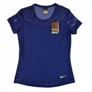 Nike Pro Hypercool Training T-Shirt Top Navy Blue